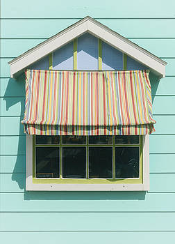 Summer cottage stripped canvas awning by Dick Wood