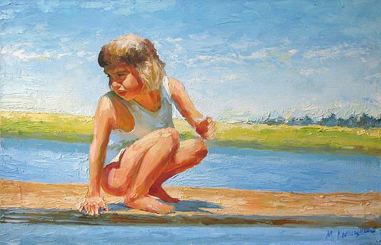 Summer day. On the river. by Misha Lapitskiy