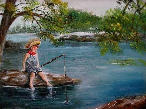 Summer Fishing by Martha Efurd