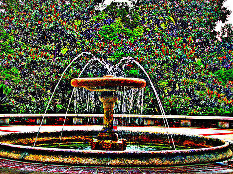 Summer Fountain by David  Brown