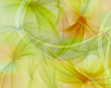 Summer Garden Abstract by Judy Palkimas