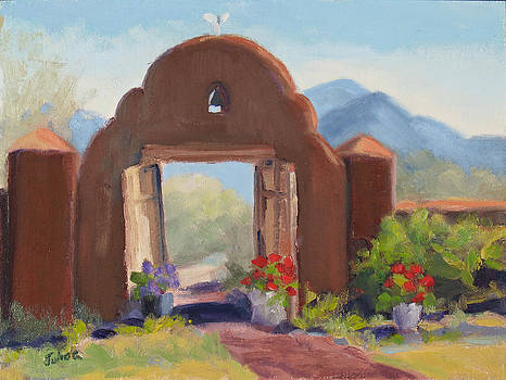 Summer Gate Taos NM by Julia Grundmeier