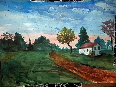 Summer Home Sun Set by Dan Olszewski