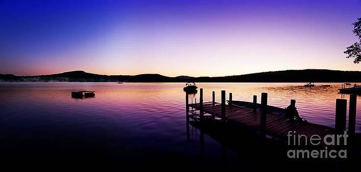 Jo Ann Snover - Summer lake dawn panorama