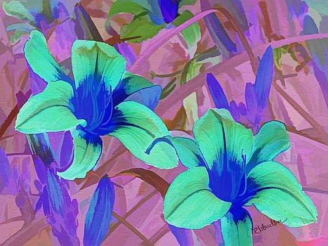 Summer Lilies in the Garden by Peggy Gabrielson