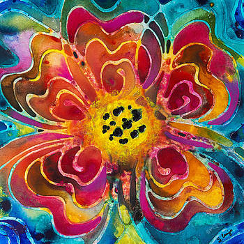 Sharon Cummings - Colorful Flower Art - Summer Love by Sharon Cummings