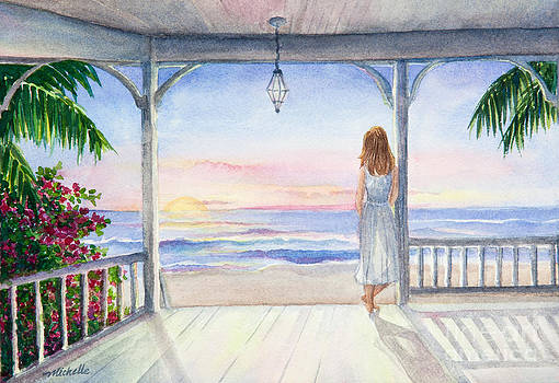 Summer Morning Watercolor by Michelle Constantine
