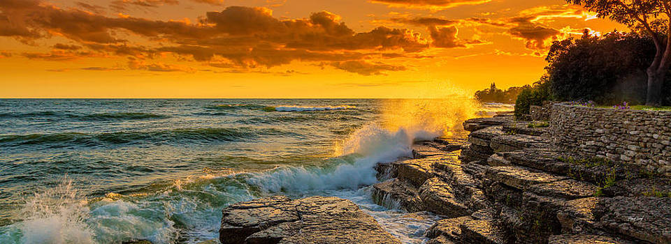Summer Storm Sunset Lake Ontario by Fred J Lord
