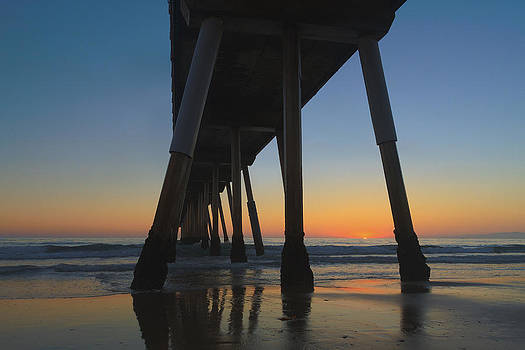 Summer's End In Hermosa Beach by Steve Belovarich