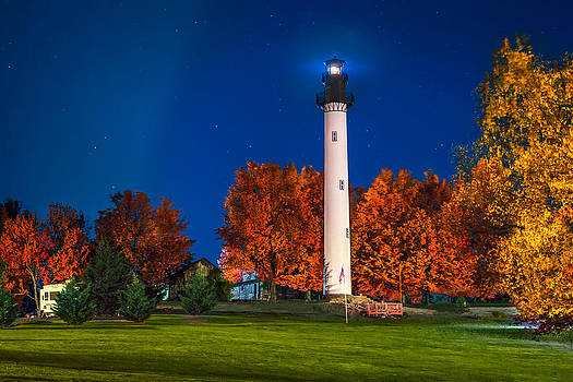 Mary Almond - Summersville Lake Light in fall