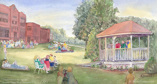 Summertime at the gazebo by Katherine  Berlin