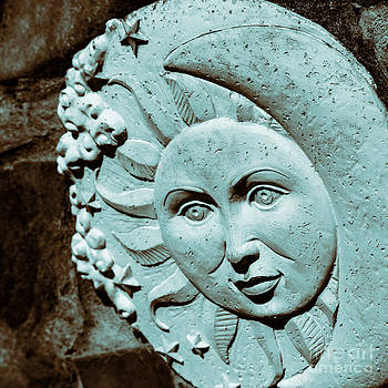 Lynn Palmer - Sun and Crescent Moon Duotone Sculpture