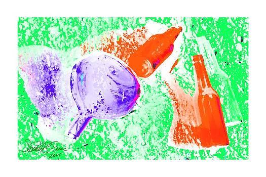 Sun Bleached Bottles by Sharon  Lavoie