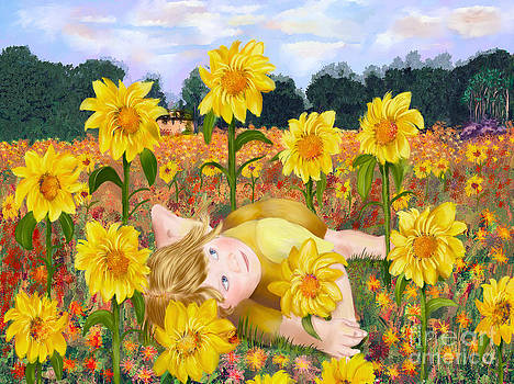 Sun Flower Girl by Sydne Archambault