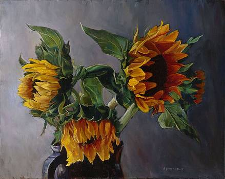 Sun Flowers by Donna Pomponio Theis