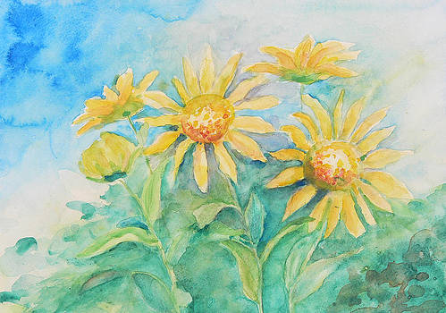Sun Flowers by Mary Levingston