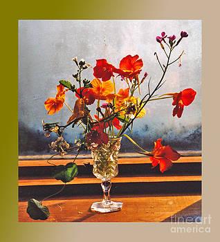 Sun Lite Nasturtium Flowers and Company by Patricia Keller