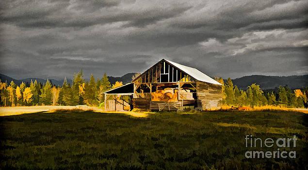 Sun on Barn by Sam Rosen