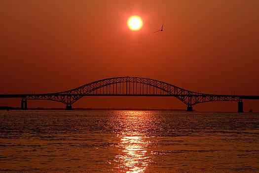 Sun over bridge by I Cale