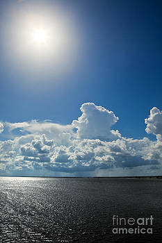 Sun Over Tampa Bay In Florida by Sharon Dominick