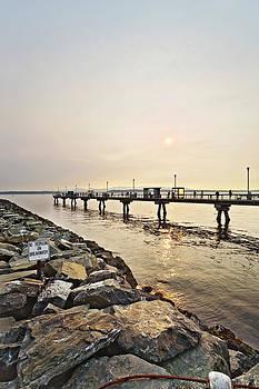 Jo Ann Snover - Sun over the pier