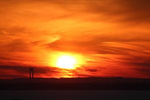 Sun Painting the Sky Orange by Rita Tortorelli