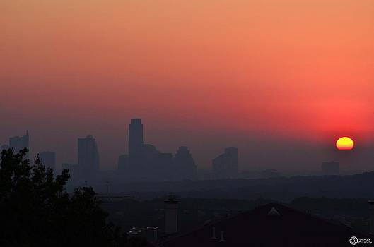Sun rise over Austin Texas by Phillip Segura