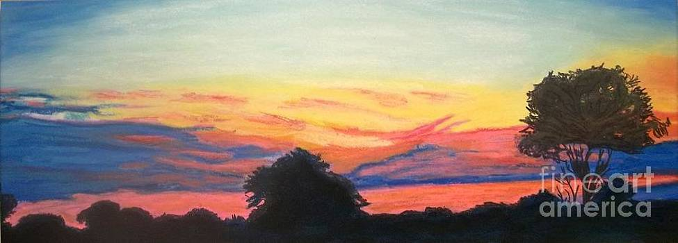 Sun Sets in Zimbabwe by Frank Giordano