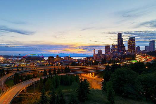 Sun Sets on a Pridefull City by Ryan Manuel