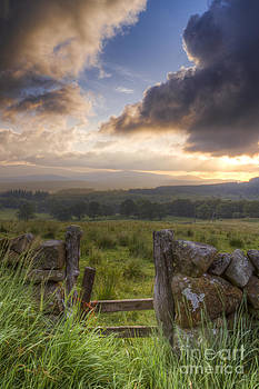 Sun Sets Over The Galloway Hills by Kirk Norbury