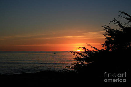 Sun Setting in Cambria Calm Pacific by Ian Donley