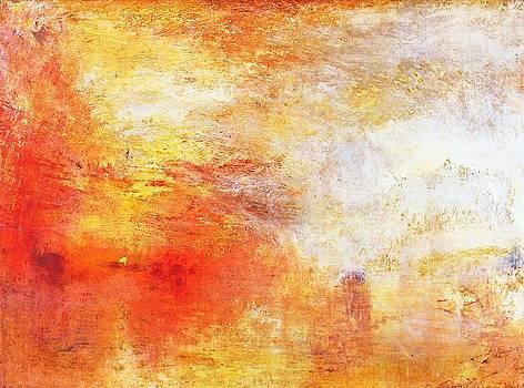 William Turner - Sun Setting Over A Lake