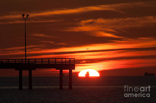 Sun Ship and Pier by Richard Mason
