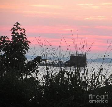 Sun to Rise on the Chesapeake Bay by Debbie Nester