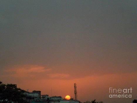 Sun Touch Horizon by Artist Nandika  Dutt