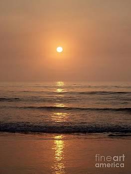 Sun Up Along Hampton Beach by Eunice Miller