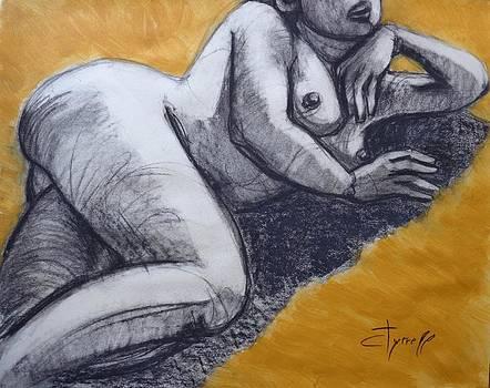 Sunbathing Nude 2 by Carmen Tyrrell
