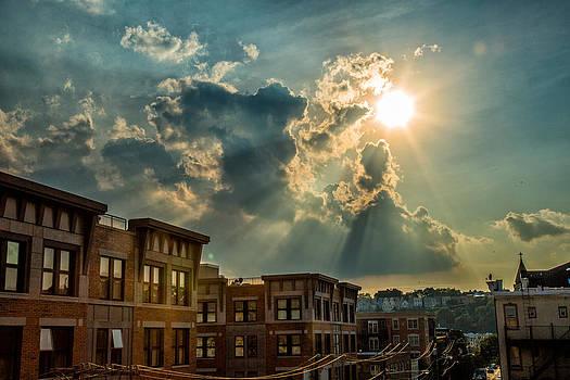 Sunbeams Over Seventh by John Dryzga