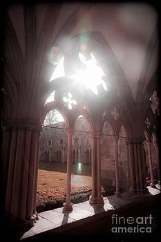 Sunburst through Gothic arch by Peter Noyce