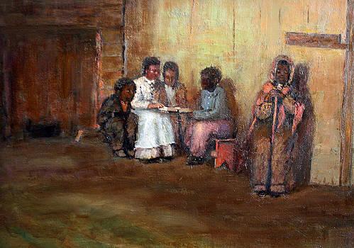 Sunday Bible Study after Homer by Benjamin Johnson