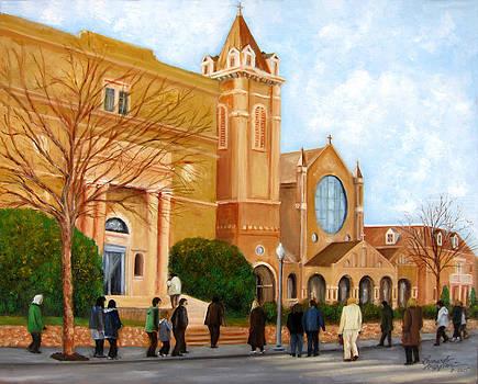 Sunday Mass at St. James RC Church by Leonardo Ruggieri