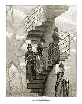 London Illustrated News - Sunday Reception at the Eiffel Tower