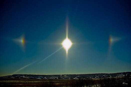 Sundog over Qu' Appelle Valley by Andrea Lawrence