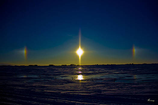 Sundogs Over Ice by Andrea Lawrence