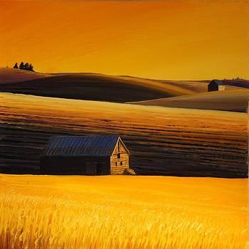 Sundown on the Palouse by Leonard Heid