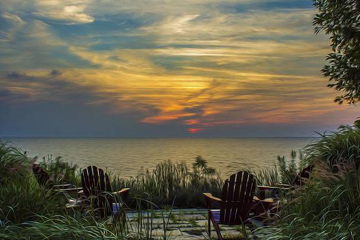 Sundown over Lake Michigan by Carl Christensen