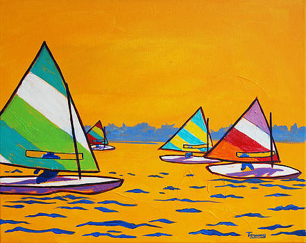 Sunfish Sailboat Race by Tommy Midyette