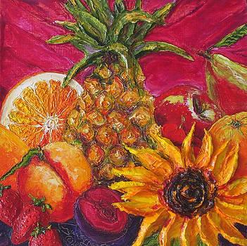 Sunflower and Fruit II by Paris Wyatt Llanso