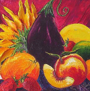 Sunflower and Fruit by Paris Wyatt Llanso
