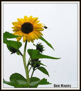 Sunflower and the Bee by Eunice Miller